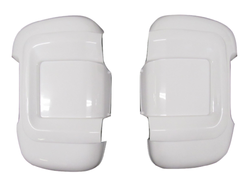 Long Arm White Wing Mirror Protectors - Fiat Ducato Peugeot Boxer Citroen Relay